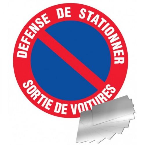 Panneau de signalisation - Défense de stationner / sortie de voitures