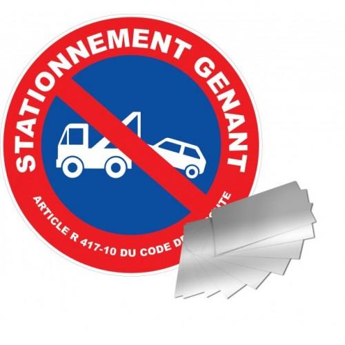 Panneau STATIONNEMENT GENANT MISE EN FOURRIERE alu 1 mm diam 300 mm