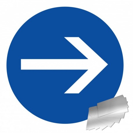 Panneau de signalisation - Sens obligatoire
