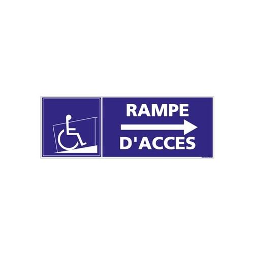 Panneau de signalisation RAMPE D'ACCES FLECHE A DROITE Alu