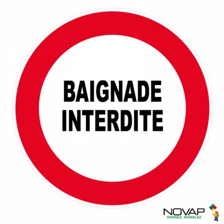 Panneau de signalisation - Baignade interdite
