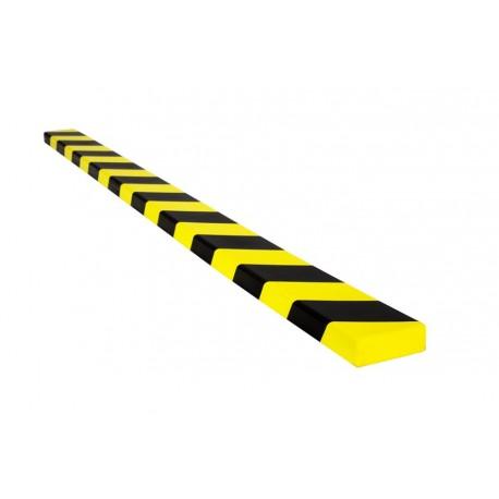 Amortisseur de choc 1 m pour surface plane - jaune et noir