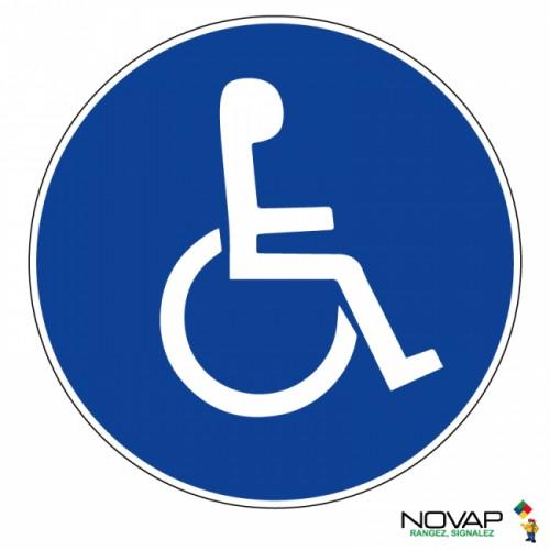 Panneau de signalisation - Panneau handicapés
