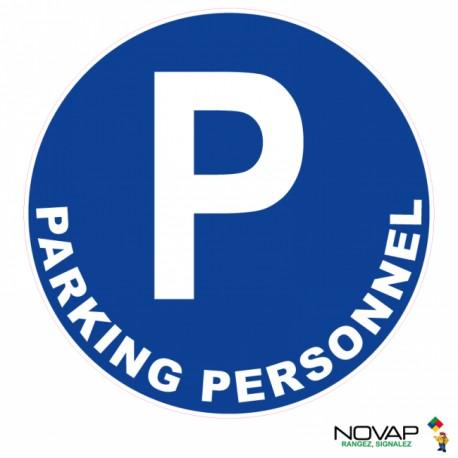 Panneau de signalisation - Parking personnel