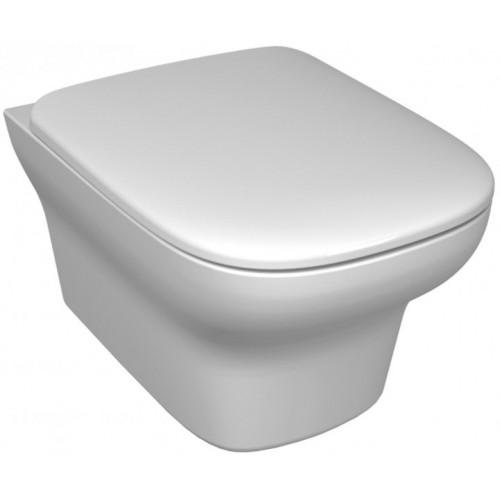 Pack WC suspendu Cuvette sans bride + Abattant - Vox