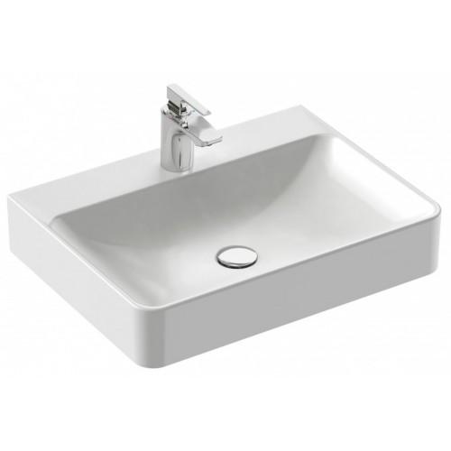 Vasque à poser 60 x 45 cm - 1 trou de robinetterie