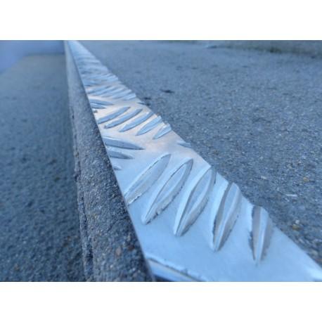 Profil plat en aluminium larmé - PP GECKO ALU LARMÉ