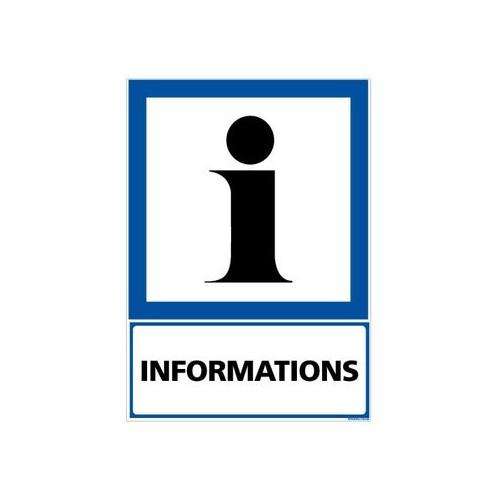 PANNEAU INFORMATION POINT D'INFORMATION alu 2 mm 300 x 420 mm