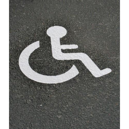 Symbole handicapé parking PMR thermocollé - T SIGN
