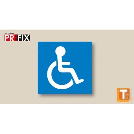 Symbole handicapé sur fond bleu - T-SIGN