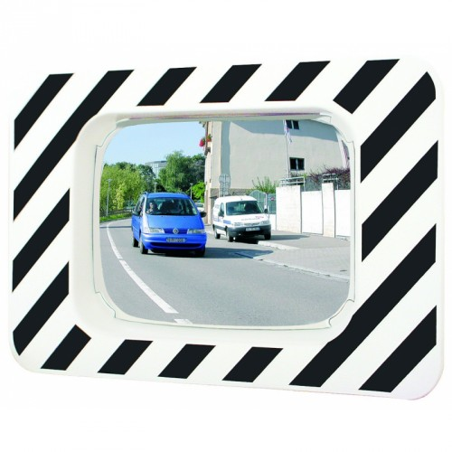 P.A.S - Miroir rectangulaire 630x 140 x 920 mm routier incassable