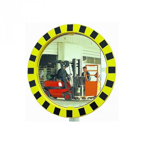 Miroir P.A.S rond pour industries avec cadre