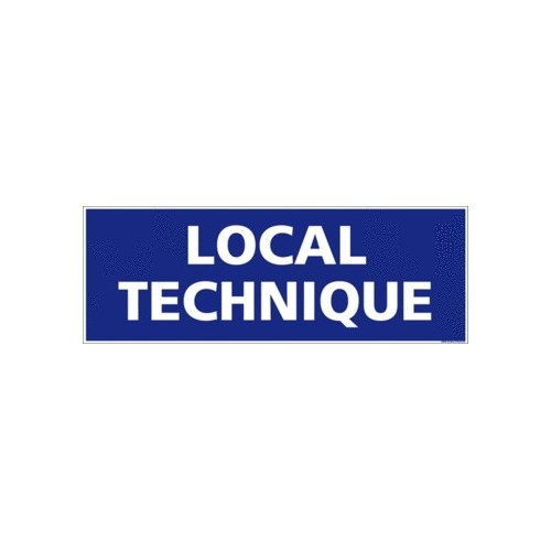 Panneau Local Technique alu 350 x 125 mm