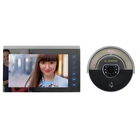 Portier vidéo effet miroir à couleur 2 fils