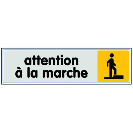 Plaquette plexiglas couleur - Attention à la marche