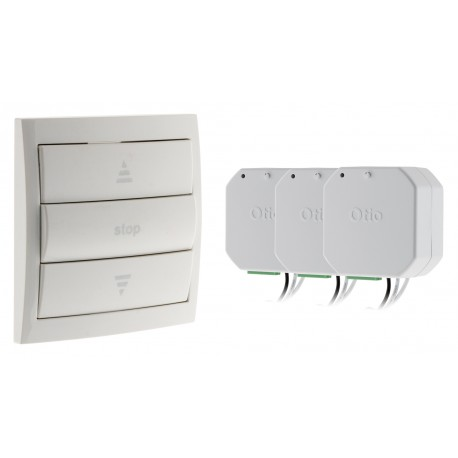 Pack volets roulant 1 interrupteur central + 3 modules