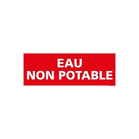 PANNEAU DE SIGNALISATION - EAU NON POTABLE alu 350 x 125 mm