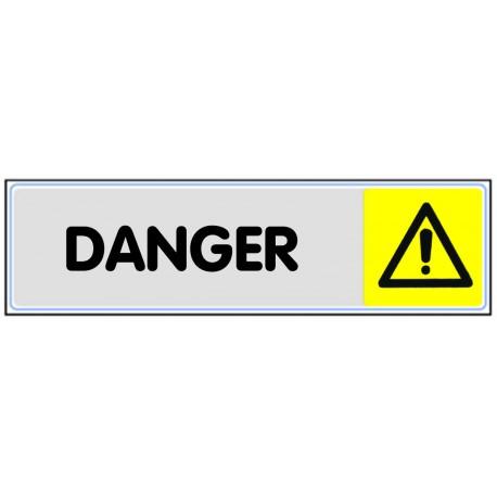 Plaquette plexiglas couleur - DANGER
