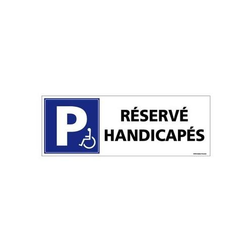 PANNEAU DE PARKING RÉSERVÉ HANDICAPÉS