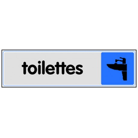Plaquette plexiglas couleur - Toilettes