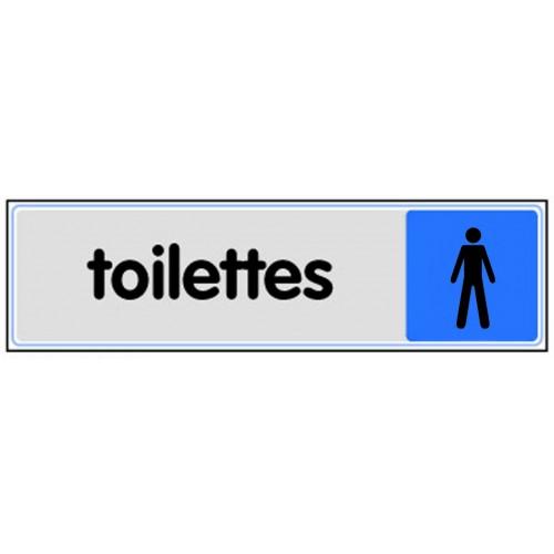 Plaquette Plexiglas Couleur - Toilettes Hommes