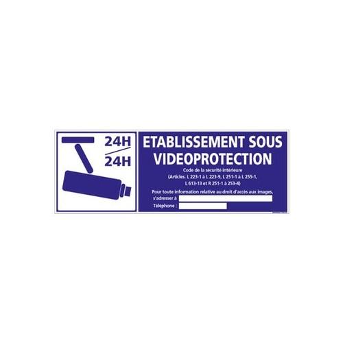 ÉTABLISSEMENT SOUS VIDÉO-PROTECTION alu 350 x 125 mm