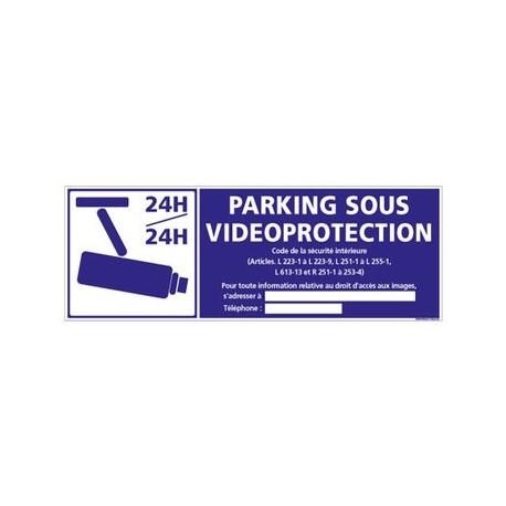 PARKING SOUS VIDÉO-PROTECTION alu 2 mm 350 x 125 mm
