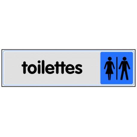 Plaquette plexiglas couleur - Toilettes homme / femme