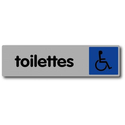 Plaquette Plexiglas Couleur - Toilettes Handicapés