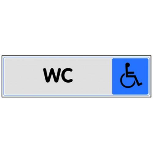 Plaquette Plexiglas Couleur - WC Handicapés