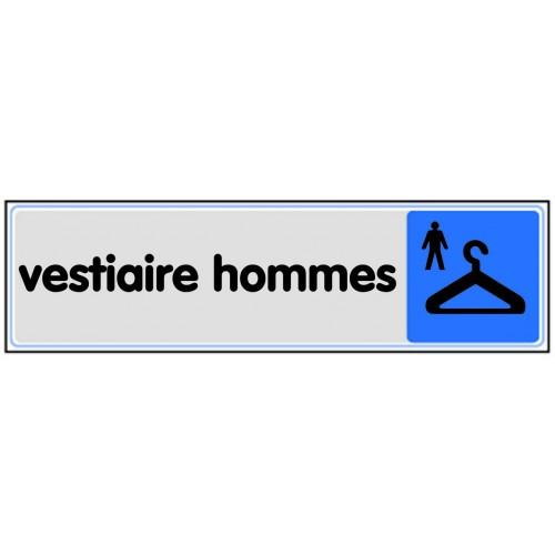 Plaquette Plexiglas Couleur - Vestiaire Hommes