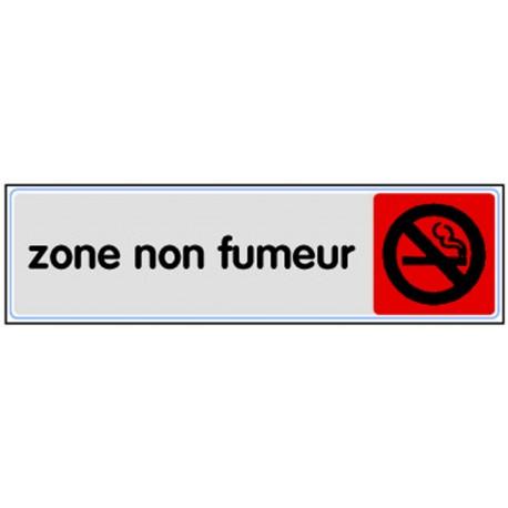 Plaquette plexiglas couleur - Zone non fumeur