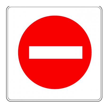 Pictogramme - Sens interdit