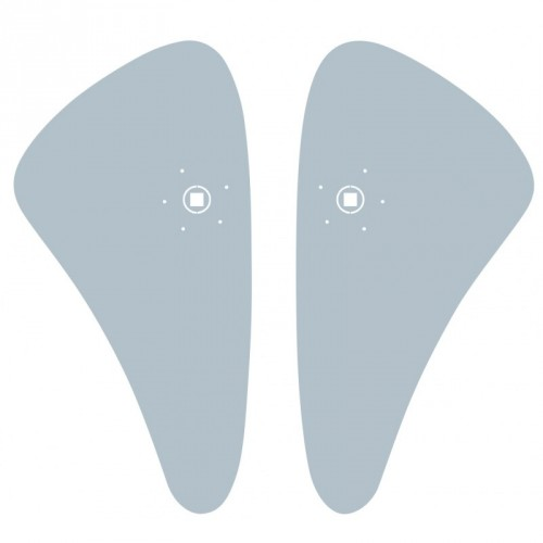 Plaques de propreté pour poignées de porte Ulna Initial et Silver