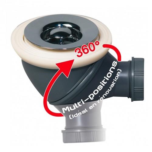 Siphon de douche gravitaire pour receveur carrelage
