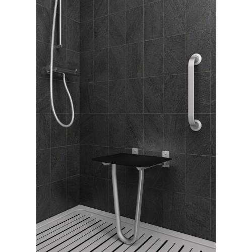 Siège de douche fixe repliable sans dosseret