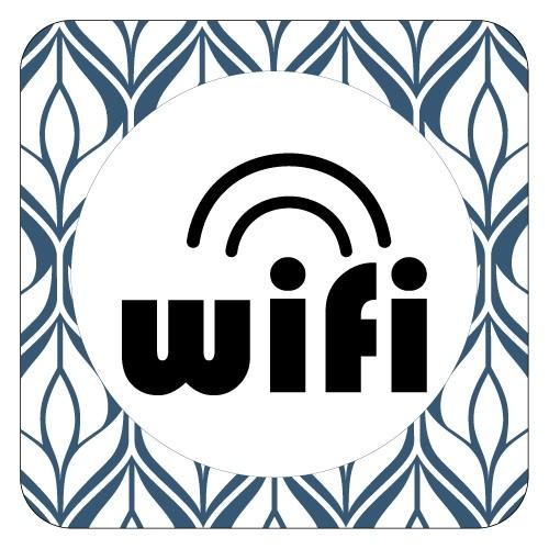 Plaque de porte Wifi