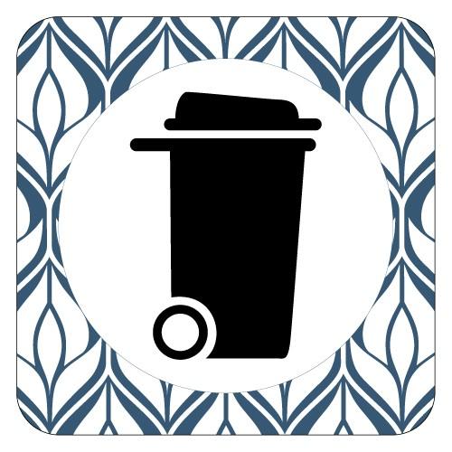 Plaque de porte poubelle