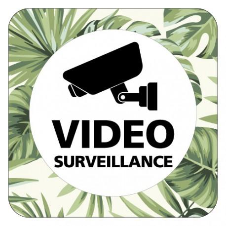 Plaque de porte vidéosurveillance
