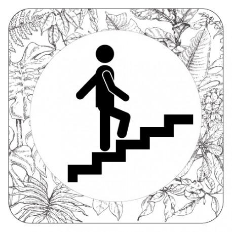 Plaque de porte escaliers