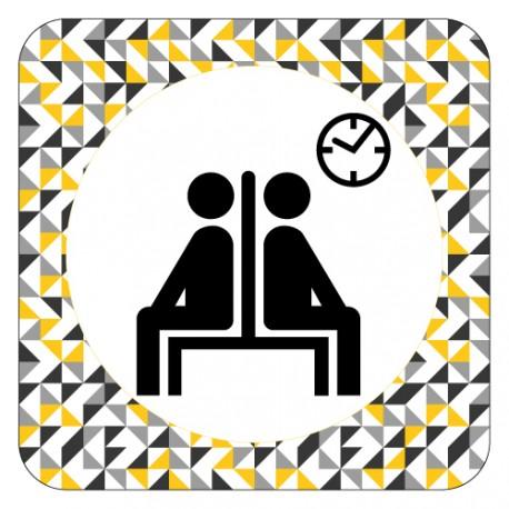Plaque de porte salle d'attente
