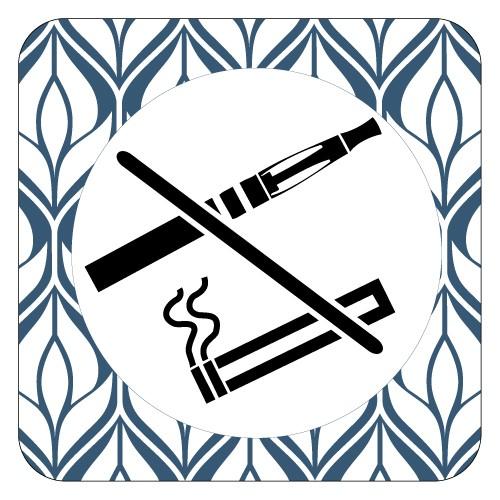 Plaque de porte interdiction de fumer et de vapoter