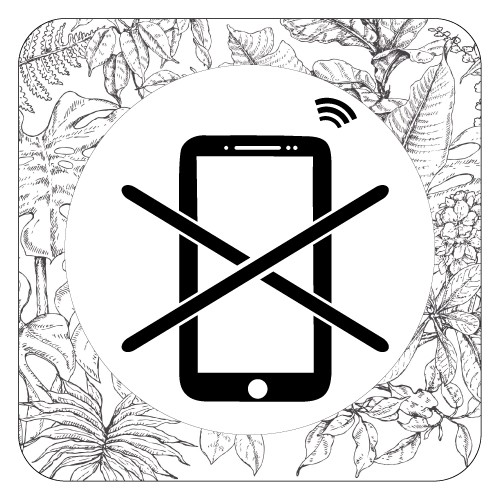 Plaque de porte smartphones interdits