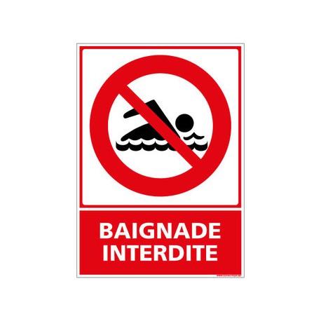 Panneau baignade interdite