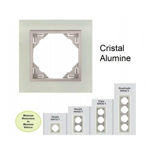 Plaque en verre - couleur aluminium