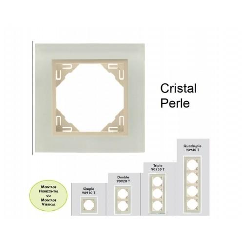Plaque en verre - couleur perle