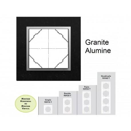 Plaque en granit - couleur aluminium