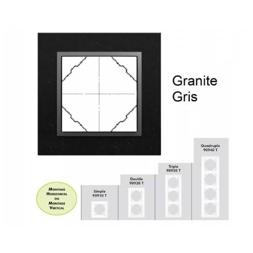 Plaque en verre - couleur gris