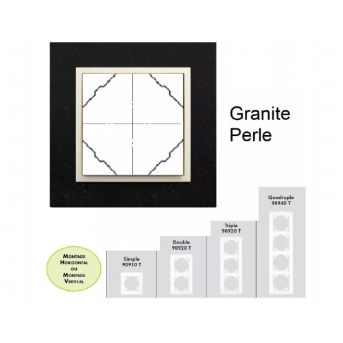 Plaque en granit - couleur perle