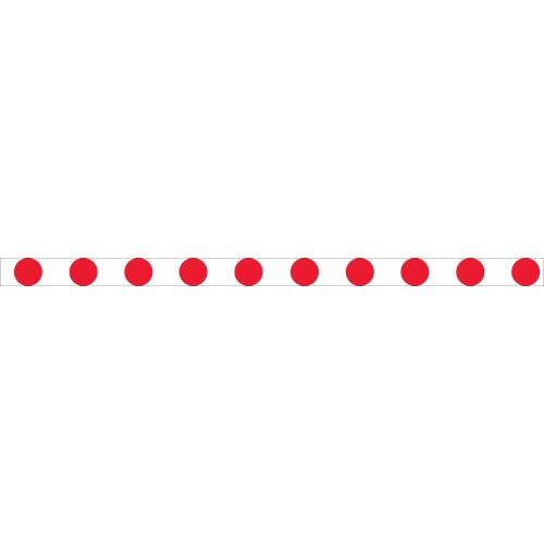 Bandes adhésives repérage - Ronds rouges - 100mm